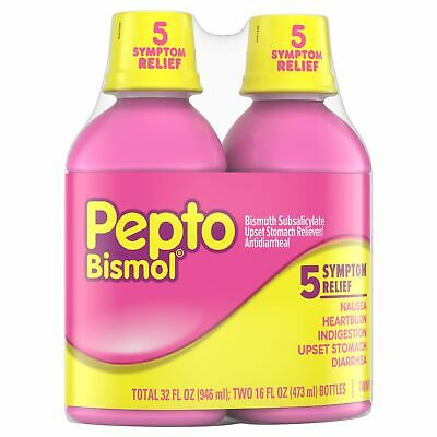 Pepto-Bismol Liquid Original 12 oz (Pack of 2) Free Shipping