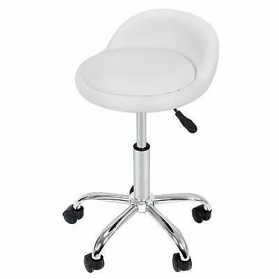 Rolling Medical Stool Doctor Dentist Doctors Spa Tattoo Chair Adjustable White