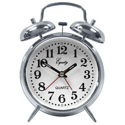 13014 Equity by La Crosse Battery Powered Loud Twin Bell Analog Alarm Clock