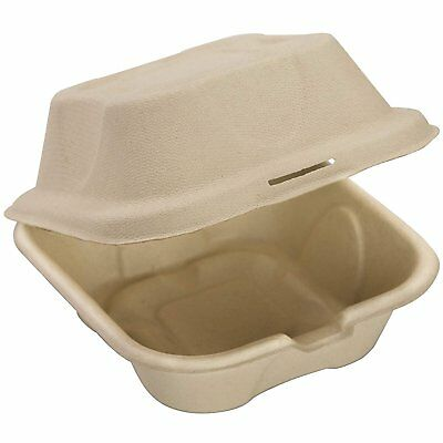 100 Pack Compostable Take Out Food Containers 6x6 To Go Boxes By Avant Grub