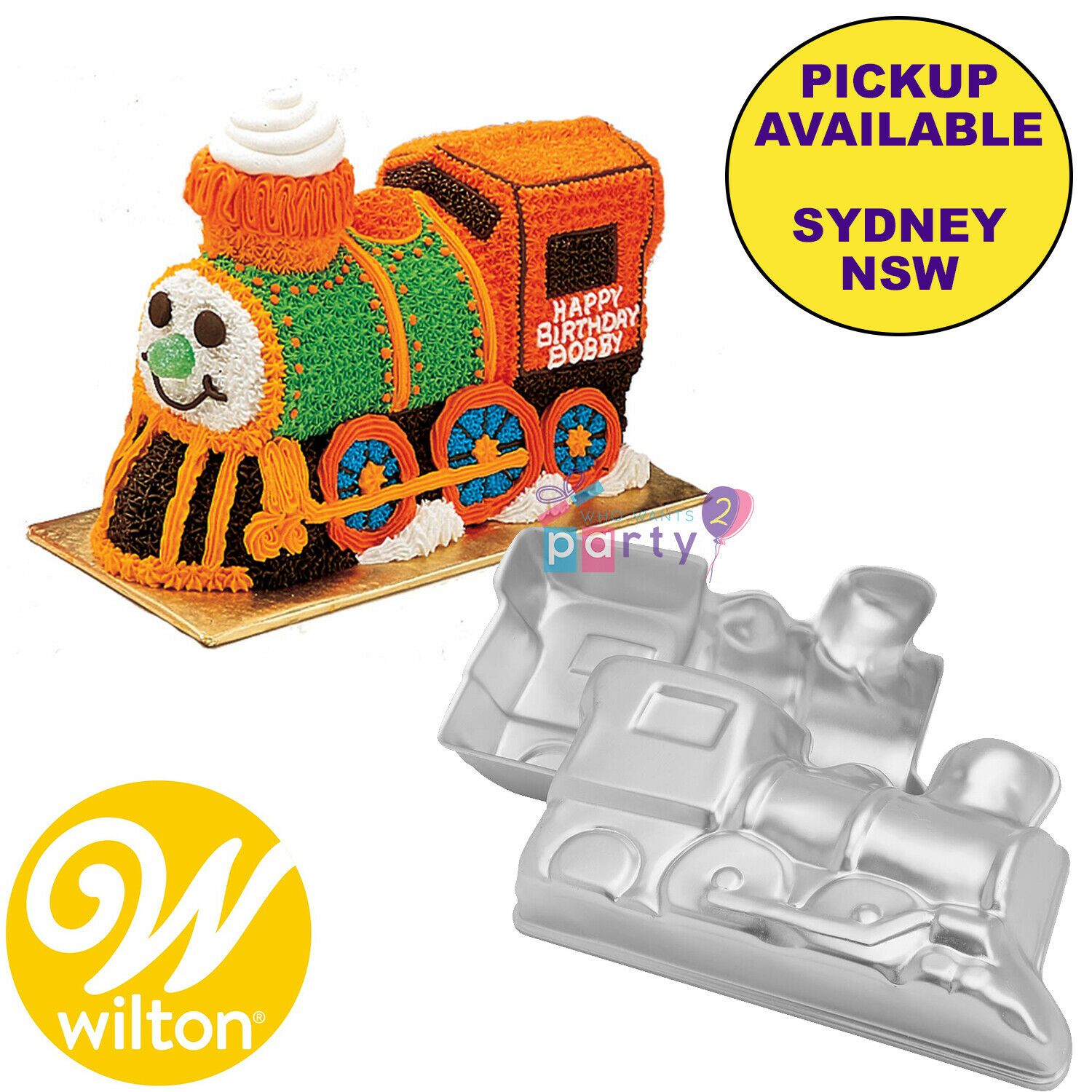 Super Wilton Choo Choo 3D Train Engine Party Supplies Birthday Cake Tin Personalised Birthday Cards Veneteletsinfo
