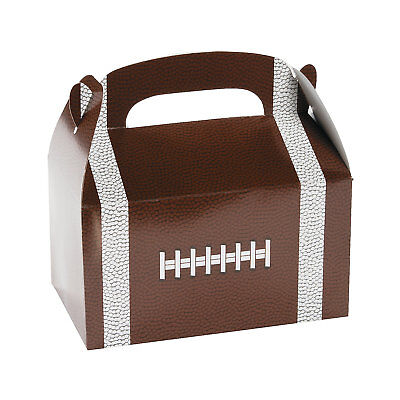 12 FOOTBALL Super Bowl Game Day Sports Tailgate Party Favor FOOTBALL TREAT BOXES](Super Bowl Favor)