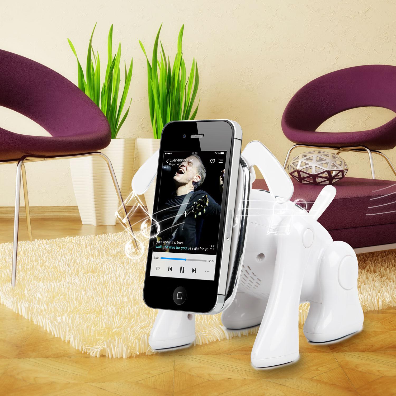 KOCASO Puppy Dog Wireless Speaker FM Radio Stereo Bass Micro SD Player