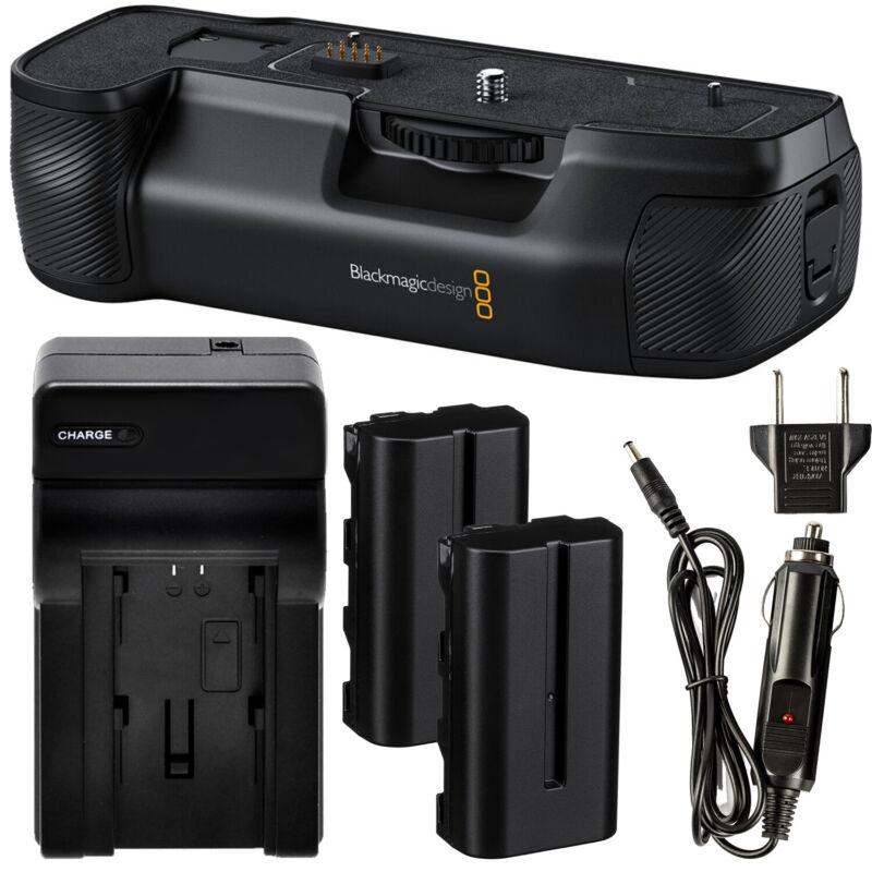 Blackmagic Design Pocket Cinema Camera Battery Grip for 6K Pro - Battery Bundle