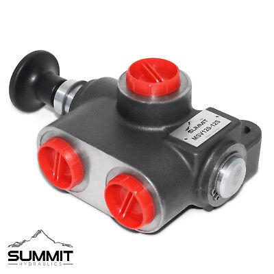 4 way 3 position manual hydraulic valve