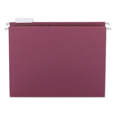 Smead Hanging File Folders 15 Tab 11 Point Stock Letter Maroon 25box 64073