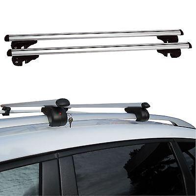 135cm Universal Aluminium Car Roof Bars Rack Locking Aero Cross Rails