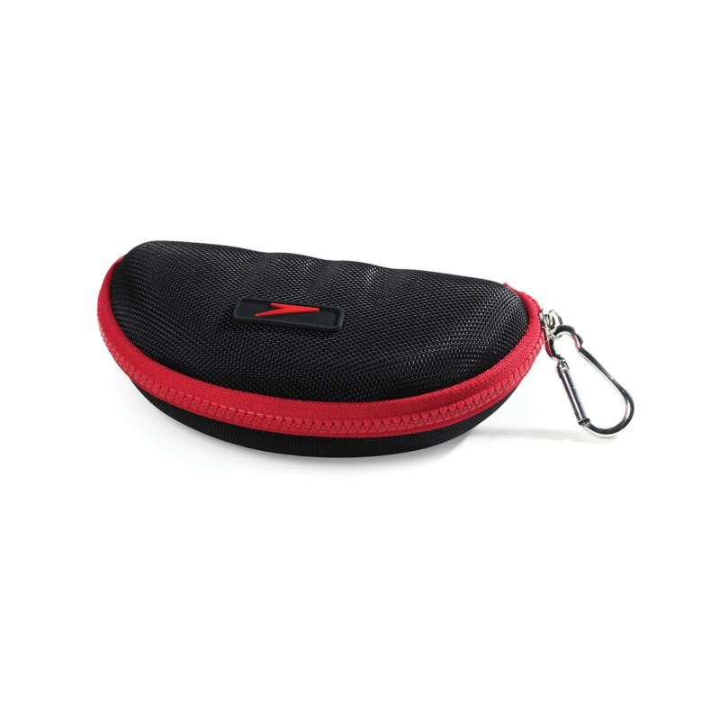 Speedo Hard Goggle Case with Zipper Closure, 6.3 x 6.7 x 1.4 Inches