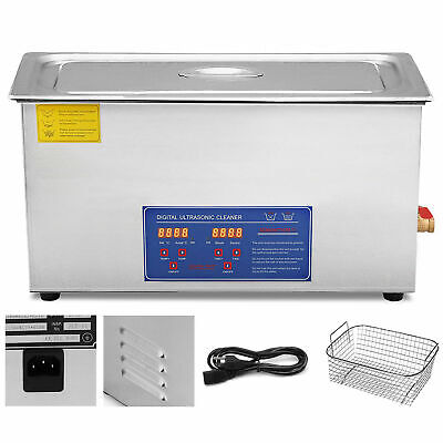 30l Digital Ultrasonic Cleaners Cleaning Equipment Bath Tank Wtimer Heated