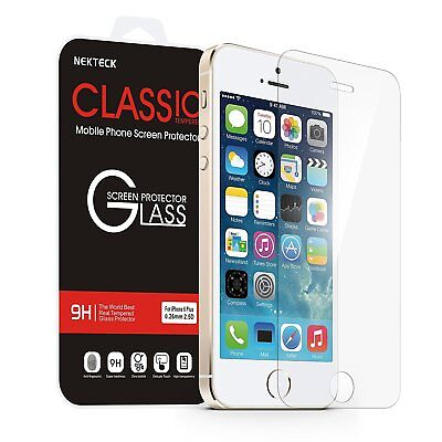 iPhone SE Cull Protector, Nekteck iPhone SE Glass Screen Protector (4 inch)