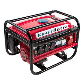 Krafthertz 3000 Watt Strom-Generator 6,5 PS 4-Takt Benzinmotor