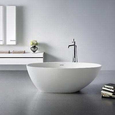 Freistehende Badewanne aus Mineralguß Solid Stone Farbe weiß matt 160x76cm 11676 (Stone Freistehende Badewanne)