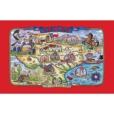 Kay Dee Designs F2167 Adventure Destinations Poster Style Tea Towel, Texas