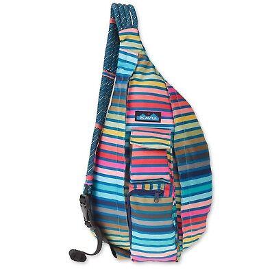 Polyester Rope - KAVU Rope Sling Bag Polyester Crossbody Shoulder Hiking Backpack - Chroma Stripe