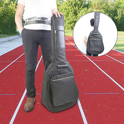 """41"""" Classical Acoustic Guitar Gig Bag Backpack Double Straps Padded Guitar Case"""