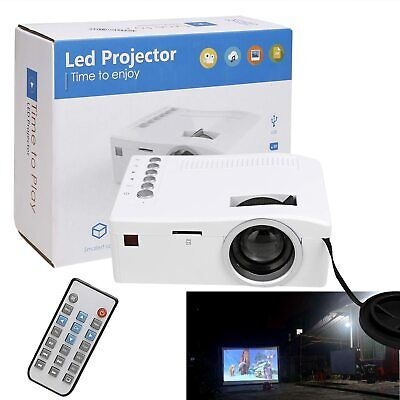 Mini LED Portable Entertainment Projector Home Theater Multimedia 1080P
