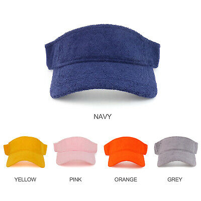 Cotton Terry Cloth Hook and Loop Closure Sun Visor Cap - FREE - Cotton Terry Cap