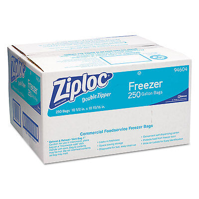 "Ziploc Gallon Freezer Bags 2.7 mil 10-9/16""x10-3/4"" 250/CT CL 682258"