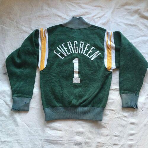 Vintage Champion Sweatshirt Evergreen Half Zip 1970s