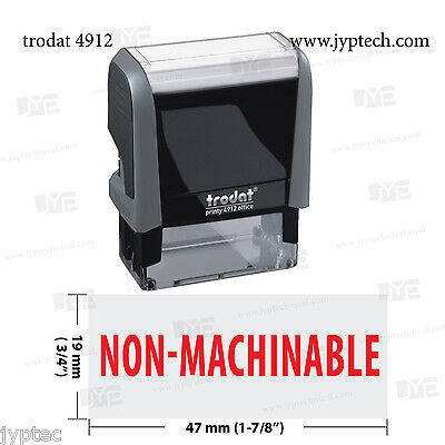New Trodat 4912 Self Inking Rubber Stamp W. Non-machinable