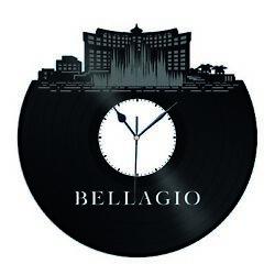 Bellagio Hotel and Casino with Fontaine Vinyl Wall Clock Souvenir Room Decor