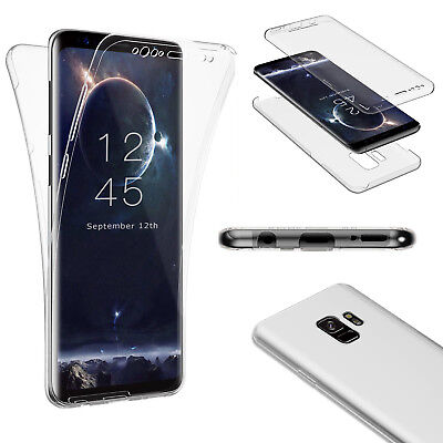 Silicon Hülle (360° GRAD FULL BODY Samsung Galaxy S9 / S9 Plus Schutz Hülle Silikon Handy Case)