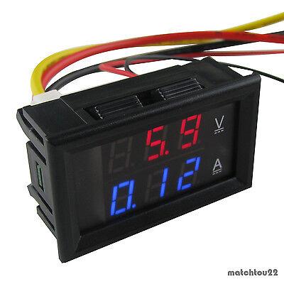 Dual Led Digital Dc300v300a Voltmeter Ammeter Voltage Amps Power Meter