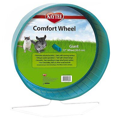 Kaytee Giant Comfort Exercise Wheel, 12-Inch,  Colors Vary, New, Free Shipping