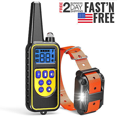 Dog Shock Training Collar Electronic Remote Control Friend Pet Trainer 885 Yards