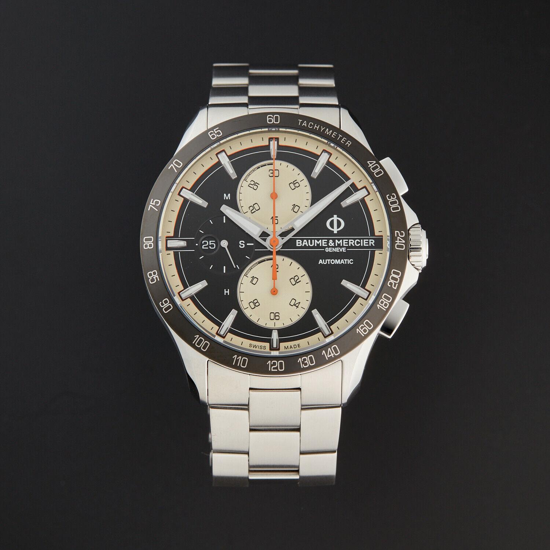 Baume & Mercier Clifton Automatic Chronograph Black Dial Steel Men's Watch 10435 - watch picture 1