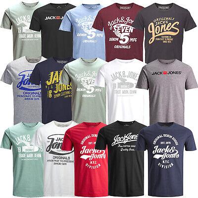 Print T-shirt (Jack & Jones Herren T-Shirt Regular und Slim Fit Rundhals Print kurz UVP 14,99 €)