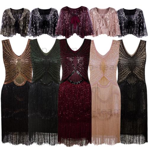Layered Tassel Vintage 1920s Flapper Dress Gatsby Formal Par