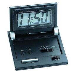 Natico LCD Alarm With Snooze, Black #10-C105    Free S/H
