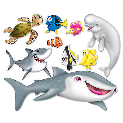 UNDER THE SEA Ocean NEMO Dory Tropical Party Decoration Wall PROPS](Under The Sea Props)