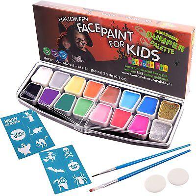 Face Painting Paint Kit Set Makeup Palette Ultimate Party Kids Fancy Carnival