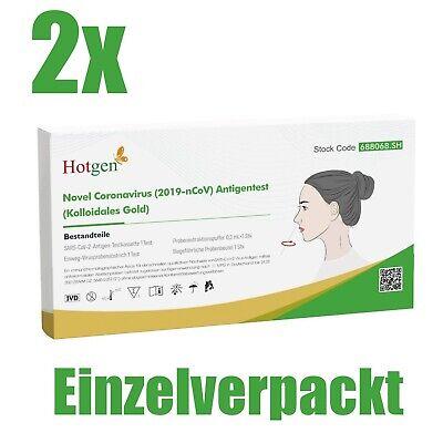 2x Corona Test Schnelltest Laientest Selbsttest Testkit Antigen Rapid HOTGEN®
