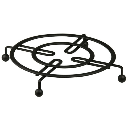 Black Flat Wire Table Trivet 8.25″ x 8.25″ x 1″ Home Basics Dinnerware & Serveware