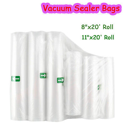 "6Pack 8""x20' Rolls,11""X20' Rolls for Food Saver Universal Vacuum Sealer Bags"
