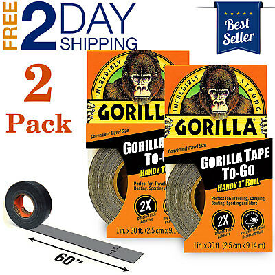 Waterproof Black Duct Tape Patch Leaks Sealing Flex Strong Repair Gorilla 2 Pack