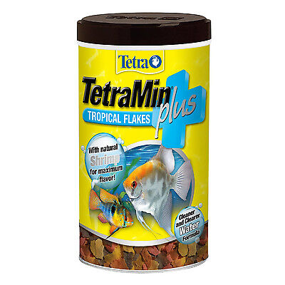 Tetra TetraMin Plus Natural Tropical Fish Flakes, Fish Food, 7.06 oz