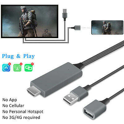 1080P HDMI Mirroring Cable Phone to TV Adapter For iPhone/Samsung/iPad/Android