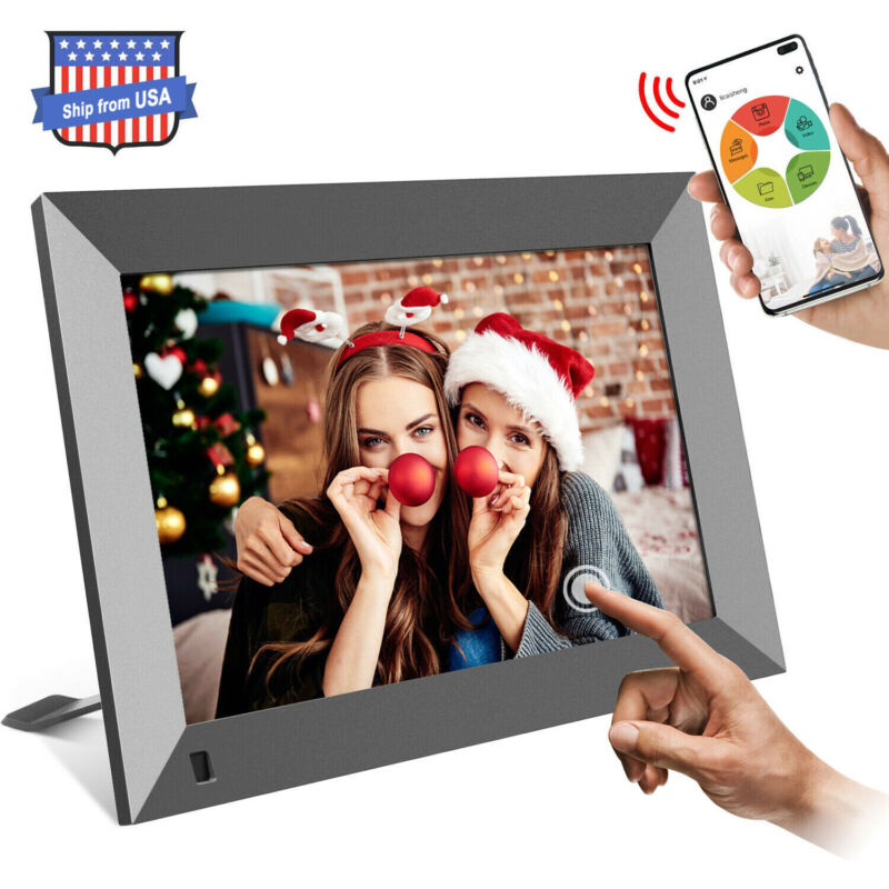 "10.1"" WiFi Digital Photo Frame Share Picture Video Instantly via App or Facebook"