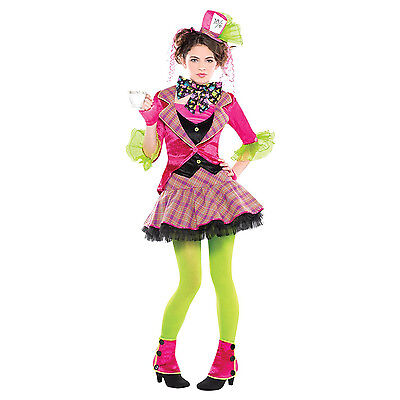 Teen Girl's Mad Hatter Fairy Tale Alice Fancy Dress Party Halloween - Girl Mad Hatter Costume
