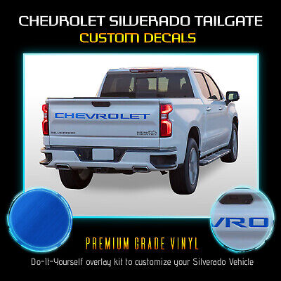 Letter Decal Inserts Fit 2019 Chevrolet Silverado Tailgate - Brushed -