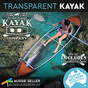 Clear Transparent Kayak See Through Bottom Canoe 2 Person Seater Boat