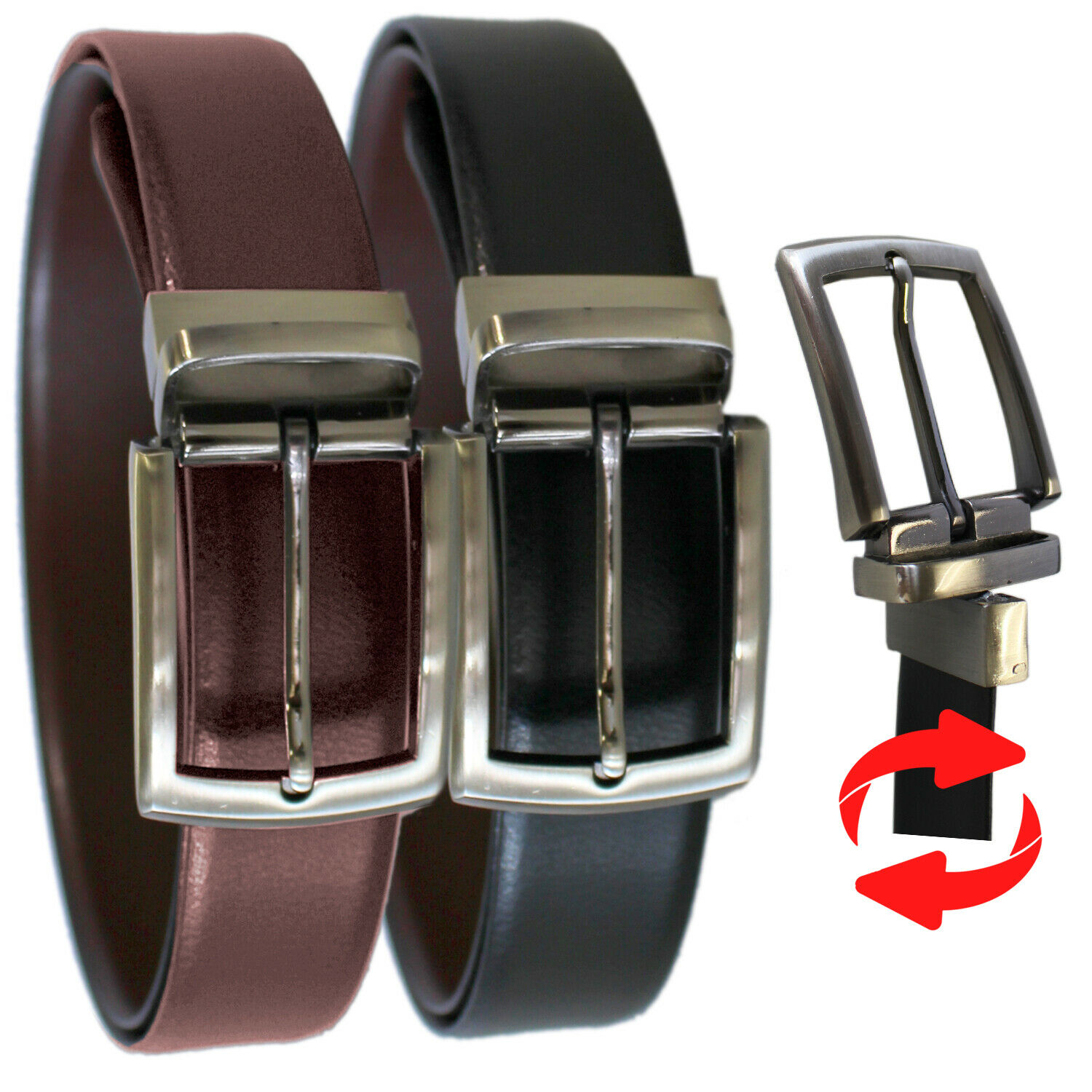 3.5cm strap Made in England Men/'s Reversible Casual Jeans Leather Belt