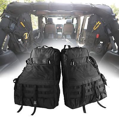 Wrangler Bag - Roll Bar Storage Bag Cargo Organizer for Jeep Wrangler TJ & JK 4-Door 1997-2018