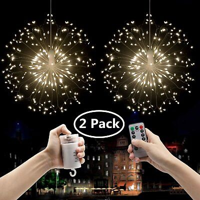 2pcs Firework 120 LED String Fairy Light Wedding Xmas Decor Dimmable Night Lamp for sale  Rowland Heights