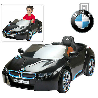 Licensed BMW i8 Kids Ride On Car With Remote Control 12V Battery Black