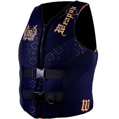 Williams Mens Weapon Waterski Wakeboard Vest Life Jacket ORANGE Size 6XL